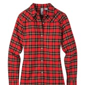 Women's Dovetail Flannel Shirt-Charcoal Gray-MD