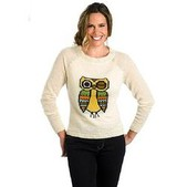 Women's Motif Mohair Crew Sweater