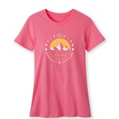 Women's Mountain Eclipse Tee-Hot Pink-SM