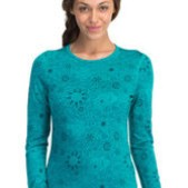 Womens Oasis Long Sleeve Crewe Quartz