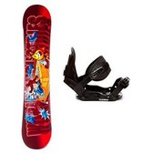 World Industries D Block and Stealth Kids Snowboard and Binding Package