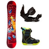 World Industries D Block and Vandal Boa Kids Complete Snowboard Package