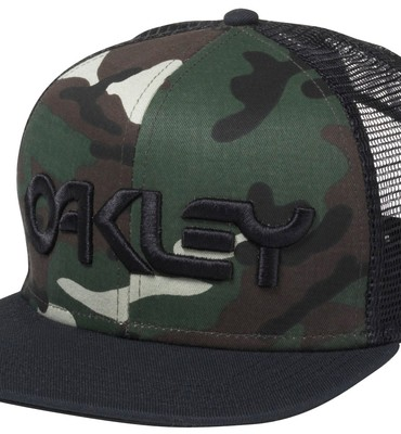 Oakley Factory Trucker Cap Olive Green Camo - Men s  197eb23b578