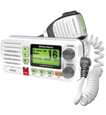 West Marine VHF585 Fixed Mount VHF Radio-White